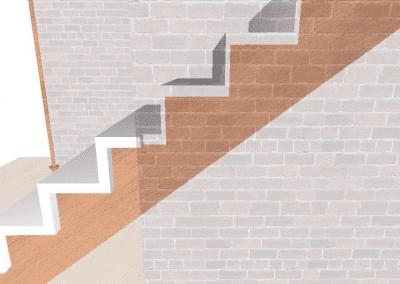 Rendering-Treppe-Detail