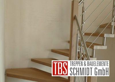 Viertelgewendelte Bolzentreppe Bechhofen der Firma TBS Schmidt GmbH