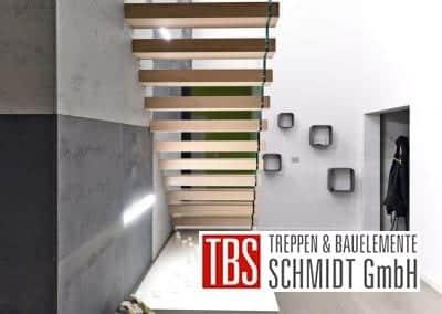 Die Rueckansicht der Kragarmtreppe Kaiserslautern der Firma TBS Schmidt GmbH