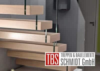 Die Stufenverblender der Kragarmtreppe Kaiserslautern der Firma TBS Schmidt GmbH