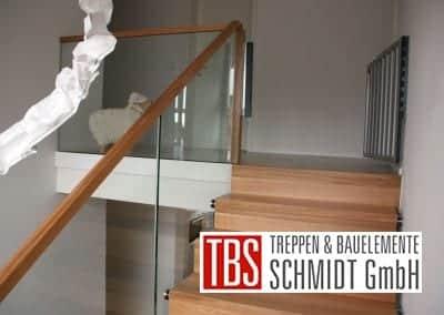 Bruestungsgelaender der Faltwerktreppe Adelberg der Firma TBS Schmidt GmbH