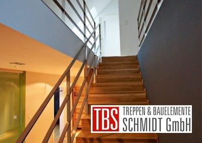 Das Edelstahlgelaender der Faltwerktreppe Karlsruhe der Firma TBS Schmidt GmbH