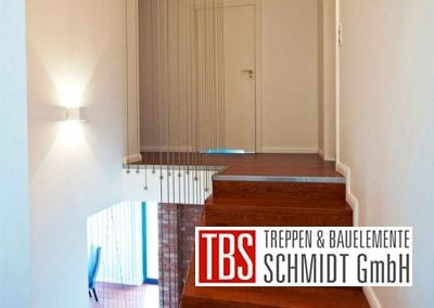 Zwischenpodest der Faltwerktreppe Leipzig der Firma TBS Schmidt GmbH