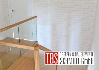 Der Galerieblick auf die Faltwerktreppe Saarbruecken der Firma TBS Schmidt GmbH