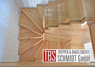 Galerieblick auf die Faltwerktreppe Saarbruecken der Firma TBS Schmidt GmbH