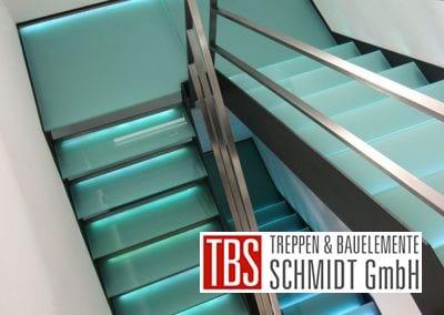 Das Treppenhaus der Glastreppe Dresden der Firma TBS Schmidt GmbH