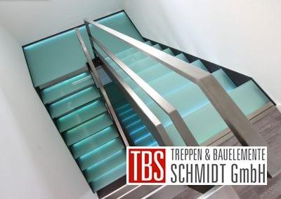 Zwischenpodest der Glastreppe Dresden der Firma TBS Schmidt GmbH