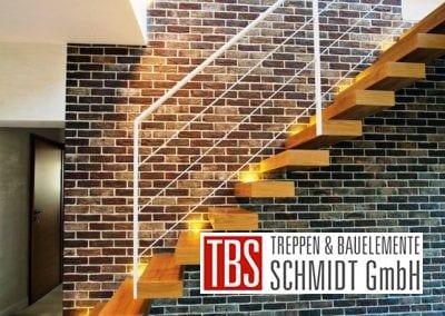 Die Seitenansicht der Kragarmtreppe Sachsen der Firma TBS Schmidt GmbH
