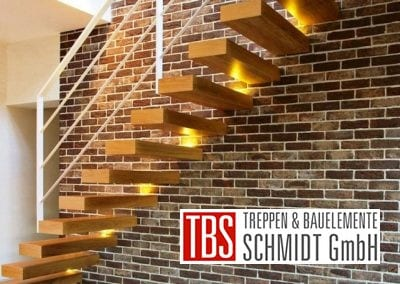 Seitenansicht der Kragarmtreppe Sachsen der Firma TBS Schmidt GmbH