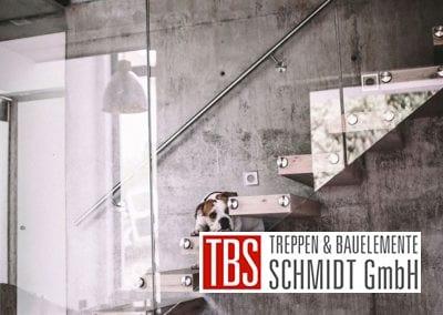 Die Seitenansicht der Kragarmtreppe Kirkel der Firma TBS Schmidt GmbH