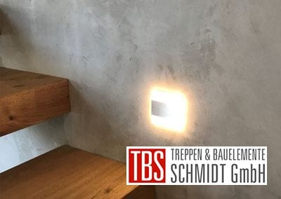 Treppenbeleuchtung der Kragarmtreppe Gersheim der Firma TBS Schmidt GmbH