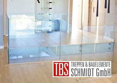 Glasgalerie der Mittelholmtreppe Karlsruhe der Firma TBS Schmidt GmbH