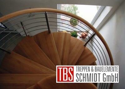 Treppengelaender der Spindeltreppe Landstuhl der Firma TBS Schmidt GmbH