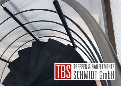 Edelstahlhandlauf der Spindeltreppe Schiffweiler der Firma TBS Schmidt GmbH