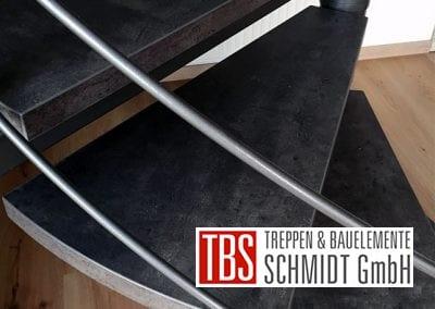Treppenstufen der Spindeltreppe Schiffweiler der Firma TBS Schmidt GmbH