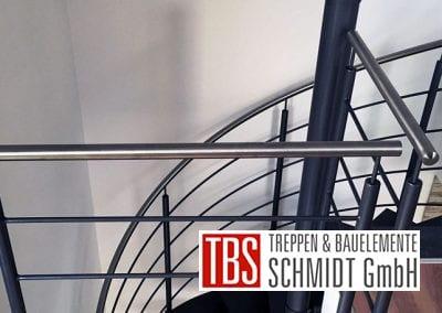 Edelstahlgelaender der Spindeltreppe Schiffweiler der Firma TBS Schmidt GmbH