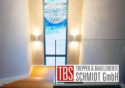 Galerieblick auf die Color-Wangentreppe Worms der Firma TBS Schmidt GmbH