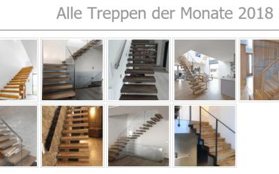 Treppen der Monate April-Juni