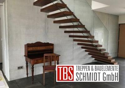 Die Stufenverblender der Kragarmtreppe Malsch der Firma TBS Schmidt GmbH
