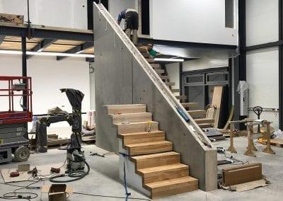 Faltwerktreppe in der Ausstellung der Firma TBS Schmidt GmbH