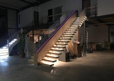 Ausstellungstreppe Kragarmtreppe der Firma TBS Schmidt GmbH