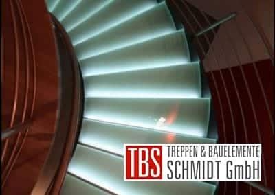 Unteransicht Glastreppe Leipzig der Firma TBS Schmidt GmbH