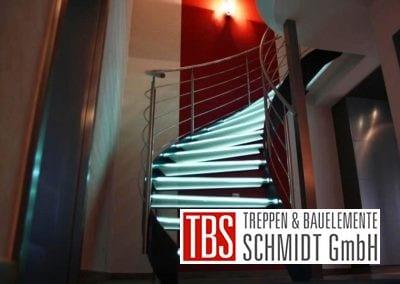 Die geschwungene Glastreppe Leipzig der Firma TBS Schmidt GmbH