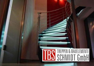 Ansicht auf die Glastreppe Leipzig der Firma TBS Schmidt GmbH