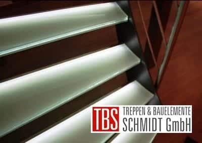 DIe Treppenstufen der Glastreppe Leipzig der Firma TBS Schmidt GmbH