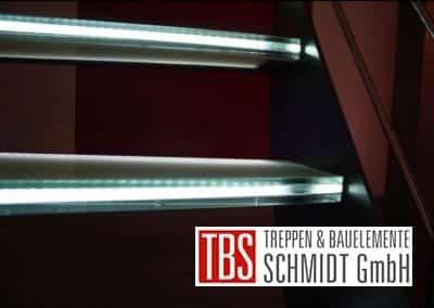 Die LED-Beleuchtung der Glastreppe Leipzig der Firma TBS Schmidt GmbH