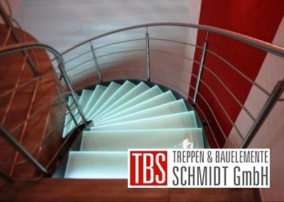 Gelaender Glastreppe Leipzig der Firma TBS Schmidt GmbH