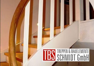 Treppengelaender der Color-Wangentreppe Magdeburg der Firma TBS Schmidt GmbH