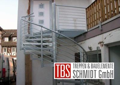 Gitterroststufen Außentreppe der Firma TBS Schmidt GmbH