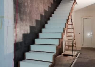 Stufenschutz Faltwerktreppe Monatge der Firma TBS Schmidt GmbH