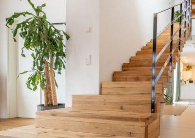 Stufenblock Treppenverlauf Faltwerktreppe Hoechen der Firma TBS Schmidt GmbH
