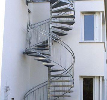 Außentreppe Doppelgewendelt