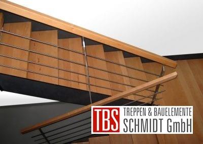 Halbgewendelte Blechwangentreppe Solingen der Firma TBS Schmidt GmbH