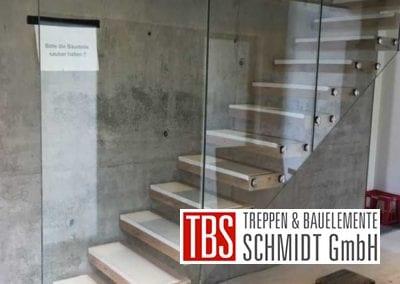 Montagebild Kragarmtreppe Kirkel der Firma TBS Schmidt GmbH