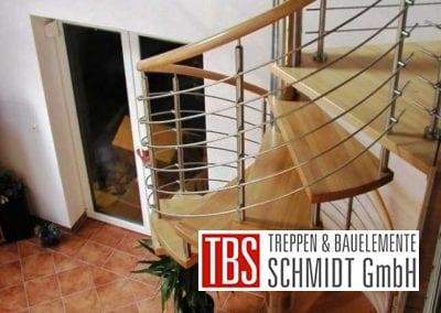 Galerieblick Spindeltreppe Landstuhl der Firma TBS Schmidt GmbH