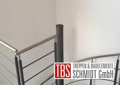 Bruestungsgelaender Spindeltreppe Schiffweiler der Firma TBS Schmidt GmbH