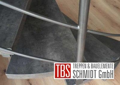 Stufen Spindeltreppe Schiffweiler der Firma TBS Schmidt GmbH