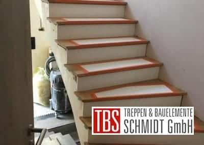 Stufenbelag Treppenmontage der Firma TBS Schmidt GmbH