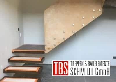 Kragarmtreppe mit Podest Treppenmontage der Firma TBS Schmidt GmbH