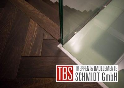 Glasboden Faltwerktreppe Frankfurt Westend der Firma TBS Schmidt GmbH