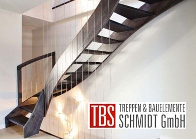Seitenansicht Wangentreppe Iserloh der Firma TBS Schmidt GmbH