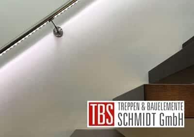 LED-Beleuchtung Kragarmtreppe Rheinzabern der Firma TBS Schmidt GmbH