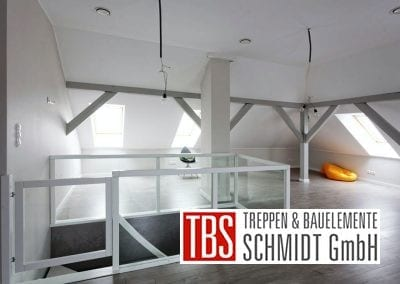 Bruestungsgelaender Faltwerktreppe Heidelberg der Firma TBS Schmidt GmbH